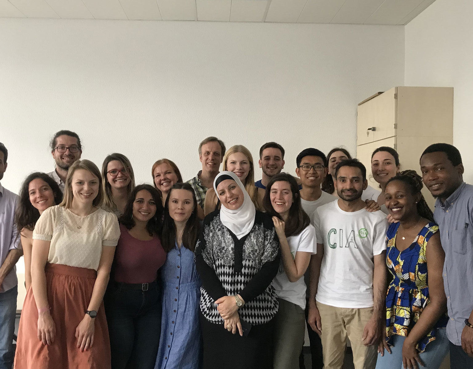 Group photo with the students of the Ruhr-University Bochum from the NOHA (Network on Humanitarian Action) Master