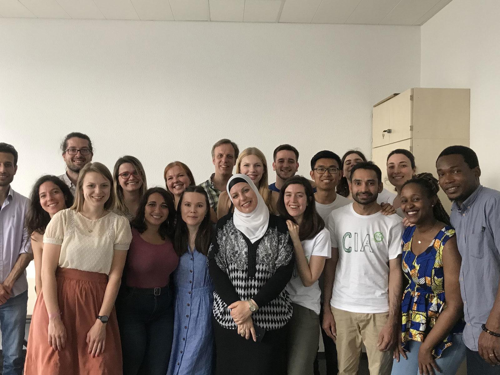Gruppenfoto mit den Studierenden der Ruhr-Universität Bochum aus dem NOHA (Network on Humanitarian Action) Master