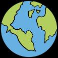 Eine Weltkugel
