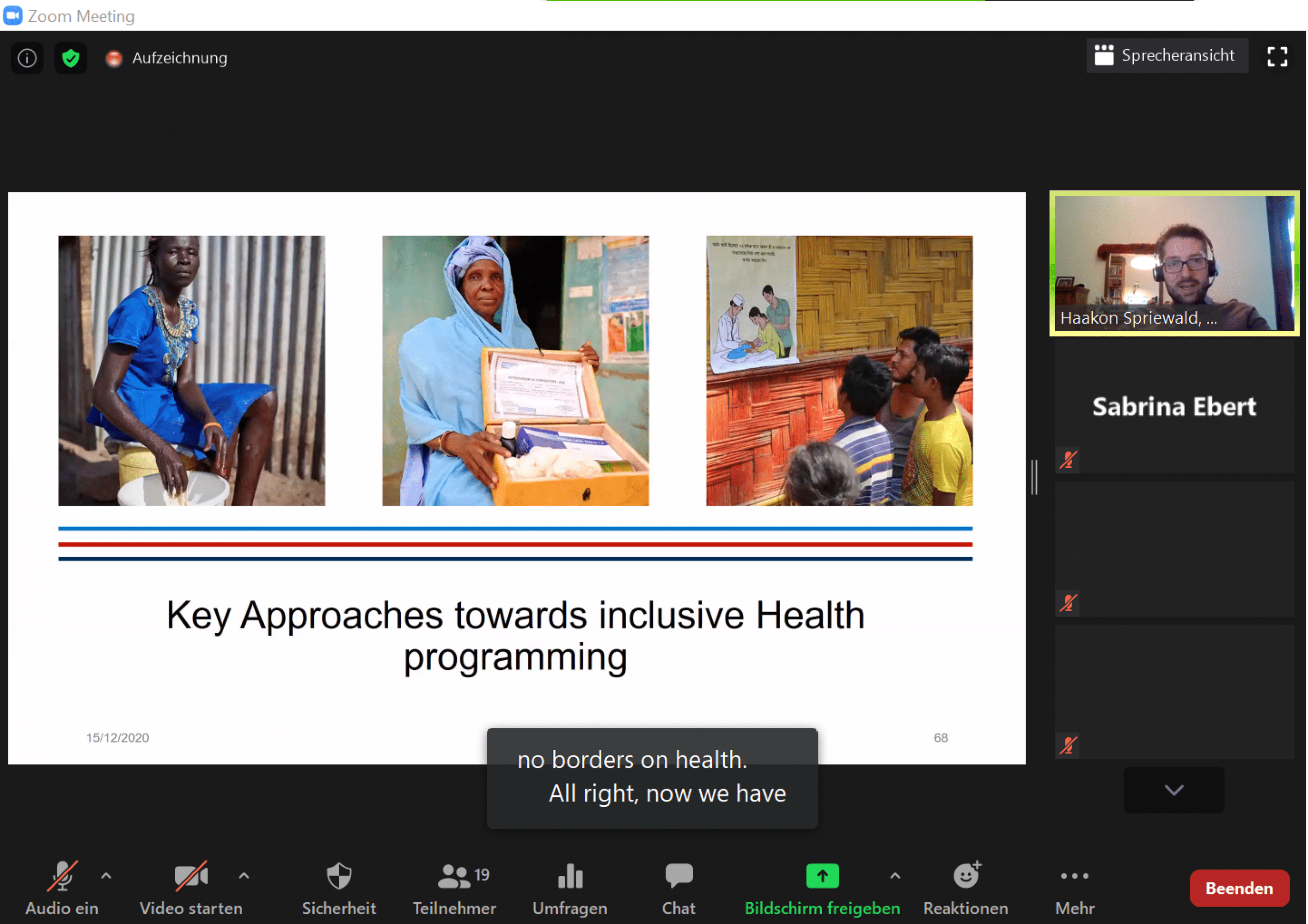 """Screenshot from the online training """"Disability-inclusive Primary Health Care"""""""